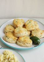 Jalapeño & Cheese Biscuits - A Beautiful Mess... mmm would be yummy with tomato soup