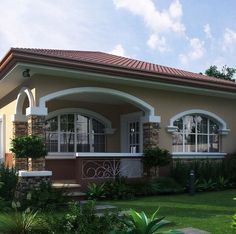 One Storey House Plans Philippines Bungalow Haus Design, Modern Bungalow House, Bungalow House Plans, My House Plans, Modern House Plans, 4 Bedroom House Designs, House Construction Plan, One Storey House, Beautiful House Plans