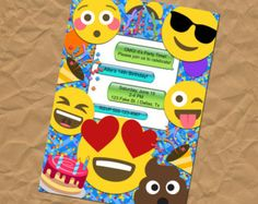 SALE 25% OFF Custom Emoji Party Invitation