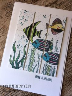 Seaside Shore, Stampin' Up! Triple Cut Card. How to create the Triple Cut technique. www.craftyhippy.co.uk
