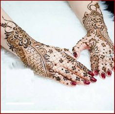 Indian Dulhan Mehndi Design For Hands And Feet 2016