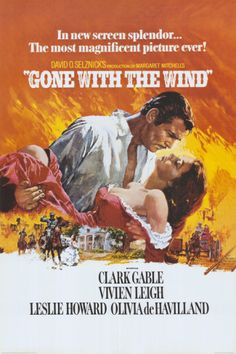 Gone with the Wind Movie, 1939 - Rhett Butler and Scarlett OHara Embrace Poster Print