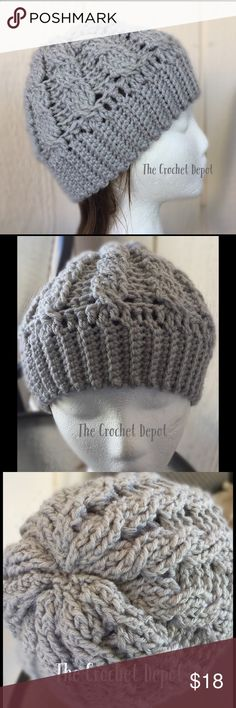 Unisex Cabled Beanie Great for men!! Just the right fit. This hat fits medium to larger heads. Not a Slouchy hat. Great quality and will last a long time. Perfect as a gift!! Amanda DePastino Accessories Hats