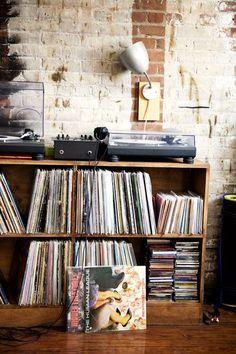 decks & records storage.
