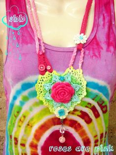 crochet made a necklace