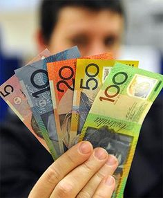 Australian Dollars, after the demise of the $! and $2 notes when coins of those denominations were introduced.