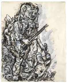 View HIRTE By George Baselitz; pencil, charcoal and gouache on paper; Access more artwork lots and estimated & realized auction prices on MutualArt. Drawing Sketches, Drawings, Drawing Board, Paul Cezanne, Museum Of Modern Art, Drawing Techniques, Sculpture, Gouache, Van Gogh