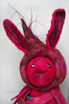 Teddy Bears handmade. Livemaster - handmade. Buy Hare Svekolkin.Burgundy, collectible toys, the only instance, drives