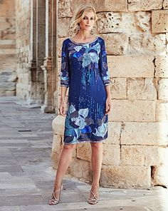 Joanna Hope Sequin-Detail Dress | Oxendales Shades Of Blue, Plus Size Dresses, Bodycon Dress, Body Con, Body Con Dress, Plus Size Clothing