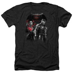 Adult Batman Vs Superman/Stand Off Heathered Short Sleeve