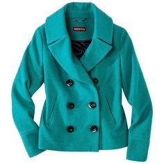 Merona Womens Double Breasted Classic Peacoat -Assorted Colors ($30) ❤ liked on Polyvore