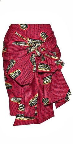 Ankara skirt made from print fabric with a high waist, pencil fit and front sash. It fastens with a zip at the back, is fully lined and is made from African print cotton. African Print Skirt, African Print Dresses, African Fashion Dresses, African Dress, African Prints, Ankara Fashion, African Fabric, African Dashiki, Fashion Skirts