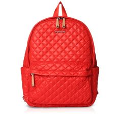 Mz Wallace The Metro Backpack ($250) ❤ liked on Polyvore featuring bags, backpacks, backpack, bolsos, papaya, nylon pouch, nylon backpacks, red nylon bag, day pack backpack and m z wallace
