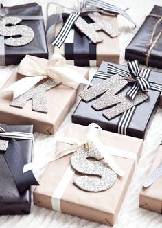 Who doesn't love a personalized gift? These oversized initial tags are calling us, big time. Courtesy of Bloglovin