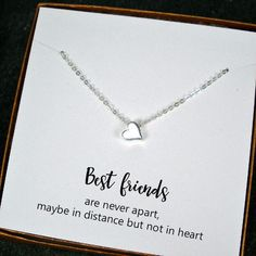 Best Friend Gift, Minimal Heart Bead Charm Necklace, Sterling Silver – Starring You Jewelry gift for sister Best Friend Gift - Simple Heart Charm Necklace, Sterling Silver Birthday Gifts For Best Friend, Diy Gifts For Friends, Bff Gifts, Easy Gifts, Bestfriend Christmas Gifts Ideas, Birthday Presents, Xmas Presents, Couple Gifts, Unique Gifts For Sister
