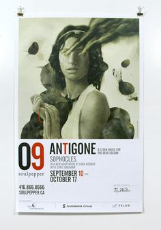 """""""Antigone"""" by Sophocles production poster."""