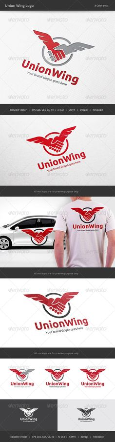 Union Wing  - Logo Design Template Vector #logotype Download it here: http://graphicriver.net/item/union-wing-logo/7899741?s_rank=422?ref=nexion