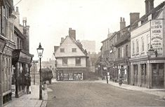 Half tone reproduction of photograph of St Albans 1907 My Family History, St Albans, Old Street, Street Photo, Art Market, Old Photos, Past, Saints, England