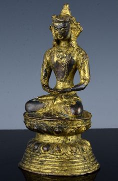 VERY RARE CHINESE GOLD GILT BRONZE BUDDHA FIGURE MING DYNASTY OR EARLIER Buddha Figures, Asian Art, Buddhism, Chinese, Bronze, Statue, Antiques, Gold, Collection