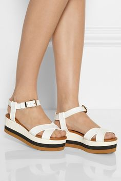 Fendi | Hydra PVC wedge sandals | Summer 2014 | cynthia reccord