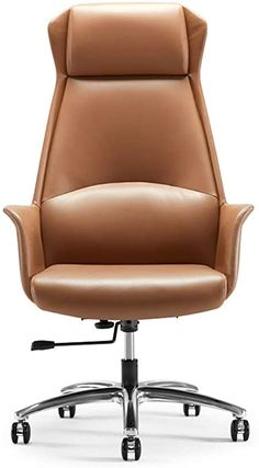 Best Ergonomic Chair, Ergonomic Office Chair, Cowhide Chair, Swivel Chair, Best Office Chair, Office Desk, Office Chairs, Brown Leather Chairs, Pu Leather