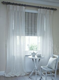 Astounding Useful Ideas: Affordable Bamboo Blinds bedroom blinds thoughts.Ikea Blinds Bamboo blinds for windows cleaning.Roll Up Blinds Fun. Sheer Curtains Bedroom, Voile Curtains, Fabric Blinds, Bedroom Windows, Blackout Curtains, Bed Drapes, White Bedroom Blinds, Bedroom Window Coverings, Lounge Curtains