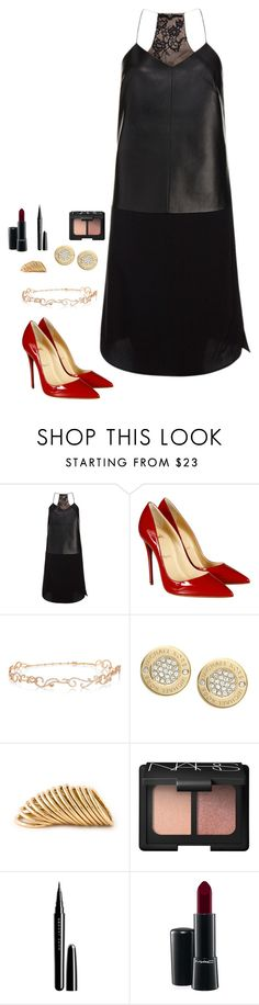 """""""Untitled #404"""" by h1234l on Polyvore featuring TIBI, Christian Louboutin, Diane Kordas, Michael Kors, Shaun Leane, NARS Cosmetics, Marc Jacobs and MAC Cosmetics"""