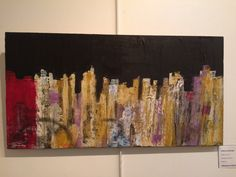 Urban landscape 60x 30cm acrylique sur bois