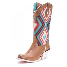 Ariat Womens Circuit Cheyenne Aztec Narrow Square Toe Cowboy Boots Tan