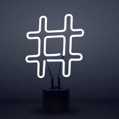 Hashtag Neon Light