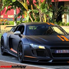 Mean looking Audi Not the fastest or most expensive of the super cars but still my dream baby. The color way is gorgi too Maserati, Bugatti, Lamborghini, Ferrari, My Dream Car, Dream Cars, E90 Bmw, Nissan, Mustang