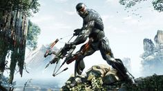 Prophet preparing to fire his bow in Crysis 3
