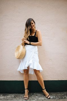 A Pair & A Spare | DIY Ruffle Wrap Skirt