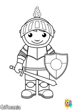 99 Best Coloring pages: Free printable coloring pages for kids knight Nick Jr Coloring Pages, Horse Coloring Pages, Cool Coloring Pages, Coloring Pages To Print, Free Printable Coloring Pages, Coloring For Kids, Coloring Sheets, Coloring Books, Coloring Pictures For Kids