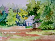 Original watercolor by Patricia Maxwell  11 x15