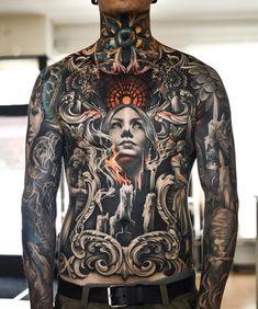 Tattoo artwork by Martin Sjöberg – Tattoos – Cozy Places Torso Tattoos, Bild Tattoos, Face Tattoos, Body Art Tattoos, Sleeve Tattoos, Portrait Tattoos, Tattoo Ink, Arm Tattoo, Cool Chest Tattoos