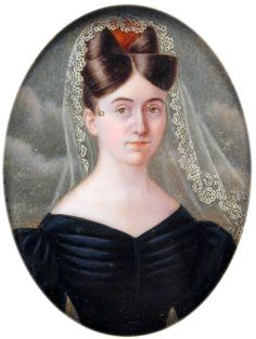 Miniature, Self-Portrait of Louisa C. Strobel, 1830s