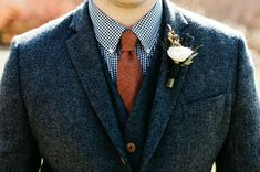 tweed grooms suit