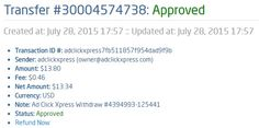 Here is my Withdrawal Proof from AdClickXpress. I get paid daily and I can withdraw daily. Online income is possible with ACX, who is definitely paying - no scam here. Thank You ACX!!!! http://www.adclickxpress.com/?r=nensi51&p=mx AdClickXpress.Official
