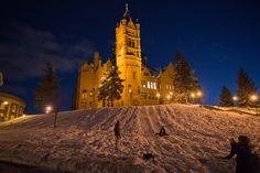Sledding at Syracuse University