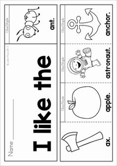 Sight Words and Beginning Sounds Flip Books with Writing A