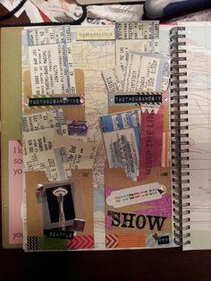 Concert ticket stub smash book page #smashbook #ticketstub #seattle