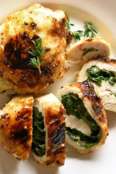 Spinach Stuffed Chicken Breasts, this flavorful recipe makes for an easy and comforting dinner. Beef Steak Recipes, Healthy Beef Recipes, Ground Beef Recipes Easy, Beef Recipes For Dinner, Easy Appetizer Recipes, Sausage Recipes, Easy Chicken Recipes, Cooking Recipes, Chicken Ideas