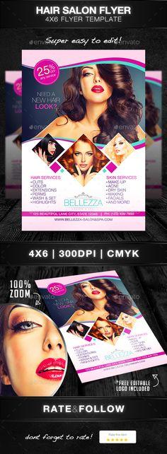 Beauty Salon Flyer - Print Templates