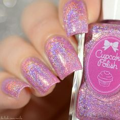 Pier Pressure Color description: light pink Finish: linear holo with iridescent glitters Number of coats: 2 Holographic effect: strong Texture: slightly tex Iridescent Nail Polish, Holographic Nail Polish, Pink Nail Polish, Nail Polishes, Holographic Glitter, Cute Nails, Pretty Nails, Nail Art Designs, Gel Nails