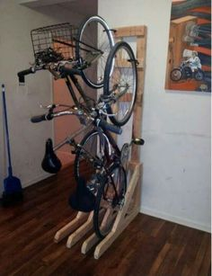 Vertical Bike Rack From Vertical Bike Rack Diy Bike Rack Decoration Ikea Wall Rack Cycle Storage Ideas Indoor Wall Mounted Bike Rack Wall Mount Wooden Bicycle Holder Bike Rack Bicycle 3 Adjustable Vertical Wall… Diy Bike Rack, Bike Hanger, Bicycle Rack, Indoor Bike Rack, Bicycle Stand, Vertical Bike Storage, Bicycle Storage, Bike Storage Upright, Vertical Bike Stand