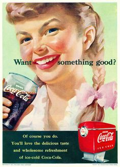 What something good? #vintage #Coca_Cola #1950s #ads