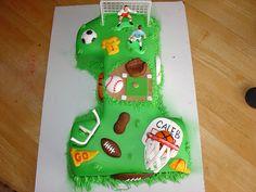 soccer, boy's first birthday idea cake, sports, football