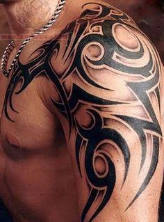 mens tribal tattoos - Google Search