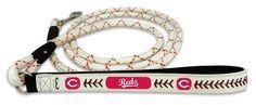 Cincinnati Reds Baseball Leather Leash - L